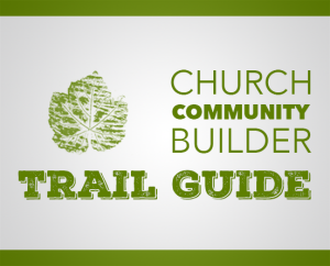 button for accessing the church community builder trail guide