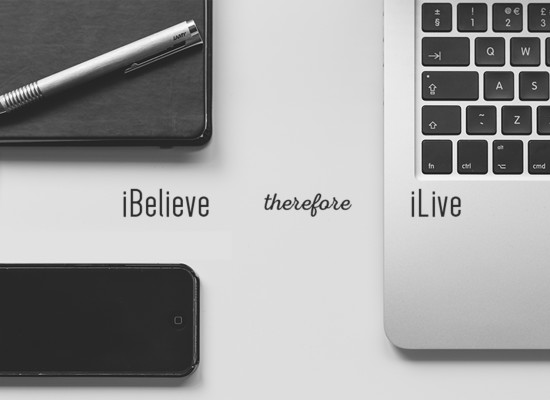 sermon series graphic for the ibelieve therefore ilive series